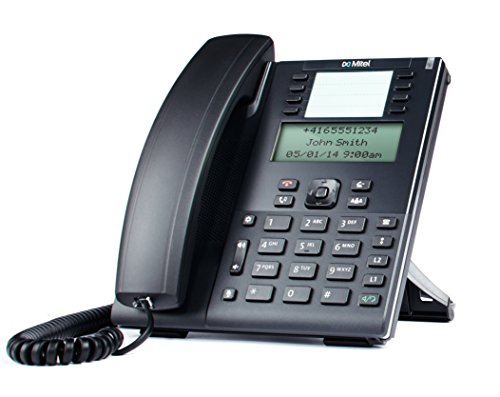 Mitel 80C00001AAA-A - Teléfono IP (Negro, Terminal con conexión por Cable, LCD, 128 x 48 Pixeles, 8,64 cm (3.4'), Monocromo)