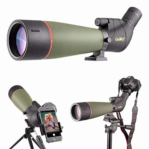 Gosky 2019 Aktualisiertes neuestes Spektiv - BAK4 Abgewinkeltes Spektiv für das Schießen von Zielen Jagd Vogelbeobachtung Wildlife Scenery mit Smartphone-Adapter und Kamera-Adapter für Nikon