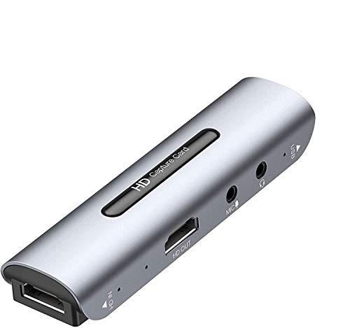 Y&H Scheda di acquisizione HDMI per videogiochi HD 1080P 60FPS Live Streaming Video Grabber con HDMI Loop Out,dispositivo di acquisizione HDMI per Switch PS3 PS4 Xbox One 360 Wii U,Mic-In e Audio Out