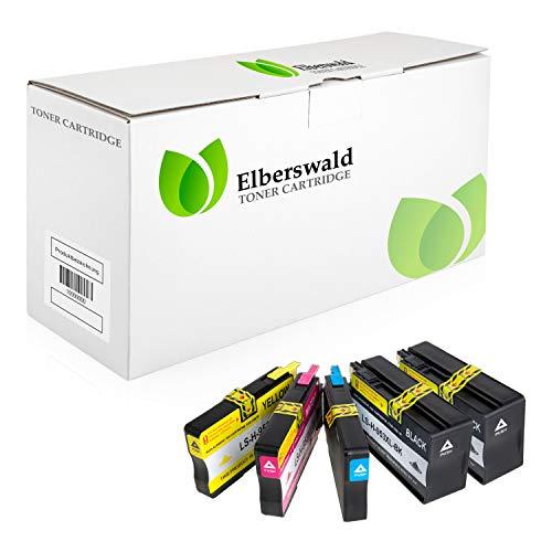 Elberswald Multipack 5X Tintenpatronen kompatibel zu HP L0S70AE F6U16AE F6U17AE F6U18AE 953XL MIT CHIP