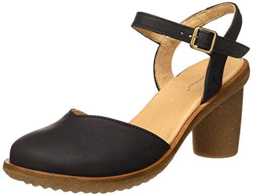 El Naturalista Trivia, Zapatos de tacón con Punta Cerrada para Mujer, Negro (Black Black), 40 EU