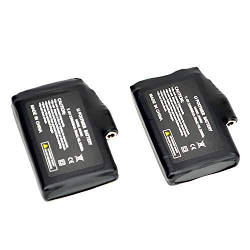 BARCHI HEAT Accesorios de batería Recargable de 7.4V 2200MAH para Guantes, Calcetines y Sombreros con calefacción