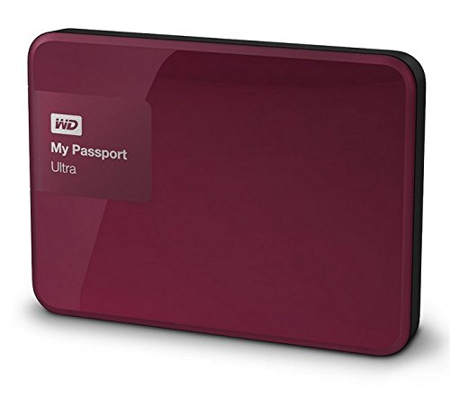 Western Digital My Passport Ultra 3 TB Externe Festplatte (bis zu 5 Gb/s, USB 3.0) wildkirsche