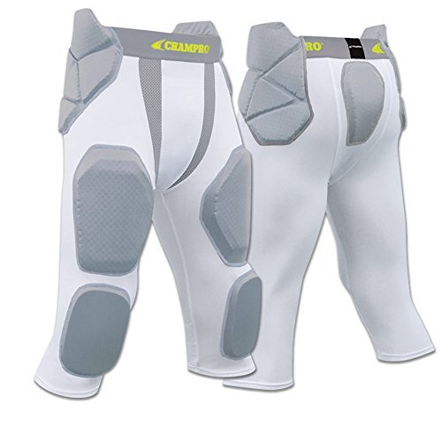 Blackout Tees FPGU7 Champro Man Up 7 Pad Girdle football pant CH White YOUTH LARGE