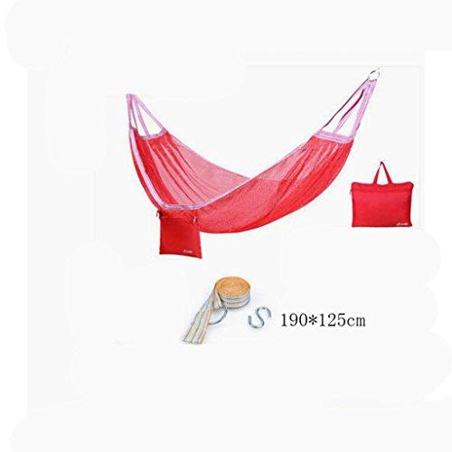 Hamac Hamac Outdoor hamac de camping hamac de montagne hamac de randonnée hamac de polyester hamac de polyester hamac portable (sac de rangement * 1, sangle de sangle * 1, crochet suspendu * 1), (190 * 125cm)