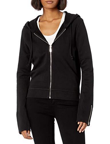 True Religion Damen Drippy HS Hoodie Sweatshirt, schwarz, Medium