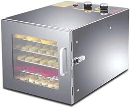 Déshydrateur de nourriture, déshydrateur de nourriture en acier inoxydable à 6 plateaux Réglages de minuterie de 12 heures...
