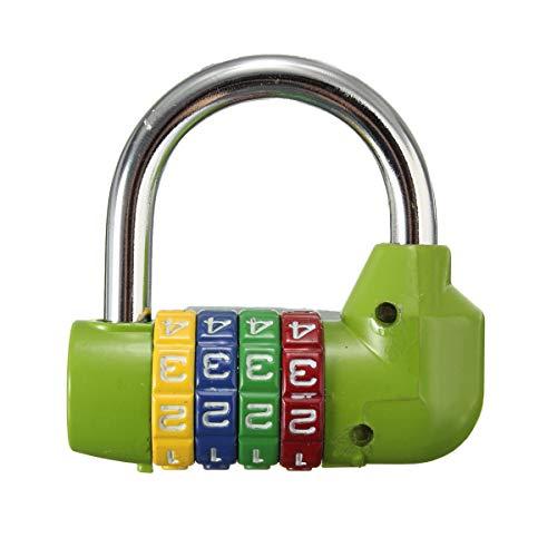Candado de contraseña de combinación, contraseña de restablecimiento de bits, Bolsa de Equipaje Maleta de Maleta Cerradura de Seguridad Hudson Studio. (Color : Green)