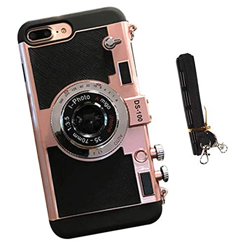 Chagoo Neue Emily In Paris Telefon Fall Vintage Kamera, Für iPhone 11/12 PRO MAX (Roségold, Für iPhone X/XS)