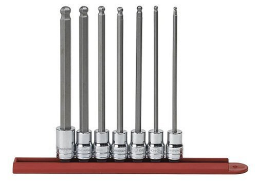 "GEARWRENCH 7 Pc. 3/8"" Drive Long Ball End Hex Bit SAE Socket Set - 80574"