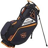 Wilson Golf Bolsa de Transporte W/S Exo, Soporte Integrado, 2.3 kg, Negro/Naranja, WGB6000BL