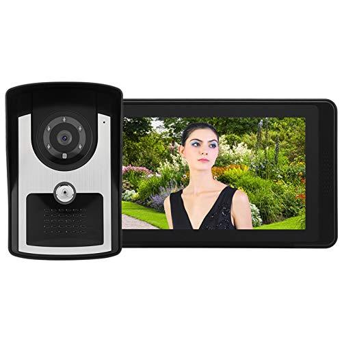 Timbre para videoportero Video Doorbell, 7'LCD Video Portátil Video Teléfono Intercomunicador Dowebell Timbre Soporte Soporte De La Grabación De Video De Desbloqueo Remoto (AU Plug)