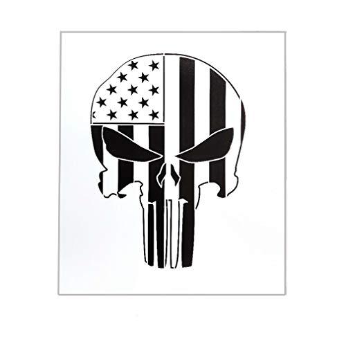 OBUY Schablone mit amerikanischem Punisher Totenkopf zum Bemalen auf Holz, Wänden, Stoff, Airbrush, mehrmals verwendbar, 19,1 x 21,6 cm, Mylar-Schablone