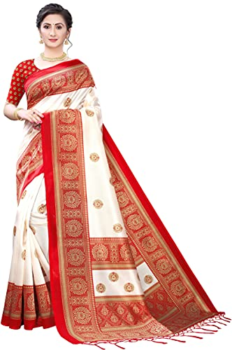 Aadvika Women's Art Silk Saree With Unstitched Blouse Piece (S189394-A)