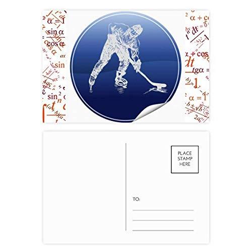 DIYthinker Wintersport Skaten und Eishockey Aquarell Formel Postkartenset dankt Karte Mailing Side 20pcs 5.7 Zoll x 3.8 Zoll Mehrfarbig