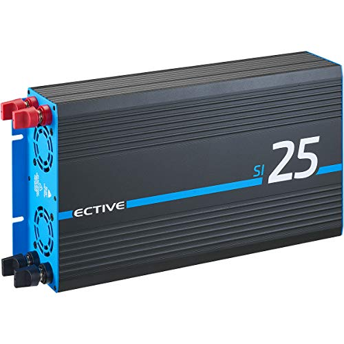 ECTIVE 2500W 12V zu 230V Reiner Sinus-Wechselrichter SI 25 in 7 Varianten