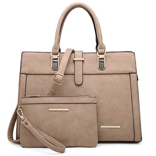 Women's Structured Handbag Fashion Top Handle Shoulder Bag Tote Satchel Purse W/Matching Wallet
