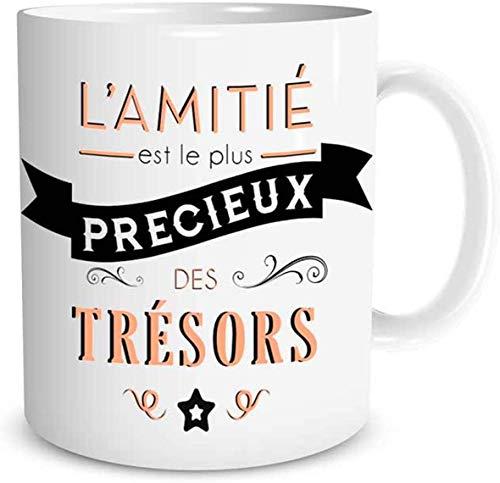 Mug Ceramique 'L'amitié est le plus précieux des trésors'