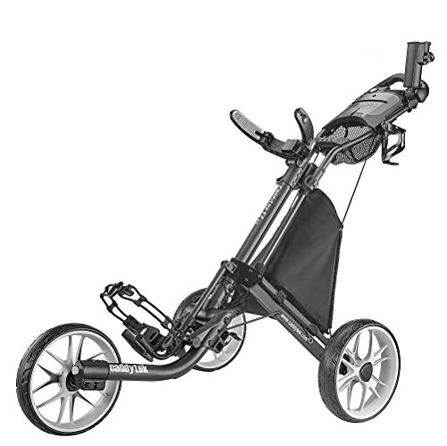 CaddyTek CaddyLite EZ Version 8 3 Wheel Golf Push Cart - Foldable Collapsible Lightweight...