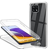 CHIMUCO Funda para Samsung Galaxy A22 5G, 360 Grados Carcasa Transparente Ultrafino Silicona TPU Frente y PC Back Case...
