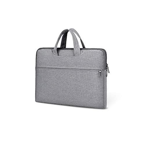 Aktenschränke Notebook-Taschen Roller Expanding Dateien und Mappen Personal Organizer-Aktenkoffer Tablet Sleeves (Color : Gray, Size : 38 × 28 × 4cm)