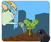 滑り止めラバーゲーミングマウスパッド、富、お金投資パーソナライズされた四角形ゲーミングマウスパッド