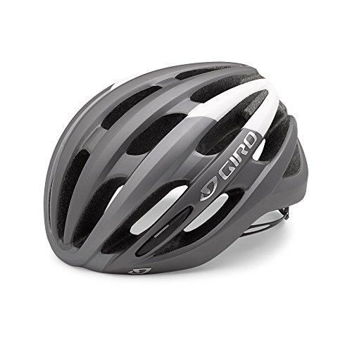 Giro Foray Road Cycling Helmet Matte Titianium/White Large (59-63 cm)