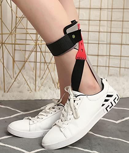 Ortesis de pie ortopédico AFO, reposapiés recortable de longitud completa Ayuda a estabilizar el tobillo y mantener una posición neutra del pie, la lesión de los nervios alivia la presión,Left