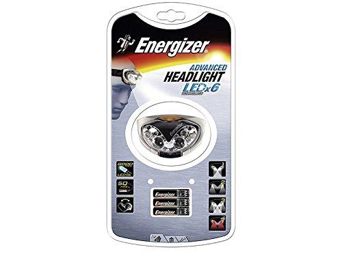 Energizer linterna de cabeza Advanced Headlight, con 6ledes,, incluye 3pilas AAA
