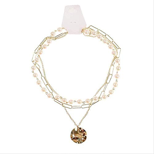 YOUZYHG co.,ltd Necklace Women Three Layer Gold Choker Necklace Korean Style Necklace Pendant Beaded Necklace Gift
