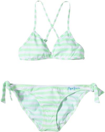 Pepe Jeans London Mädchen VIRGINE Bikini, hellgrün, 8 Jahre (128)