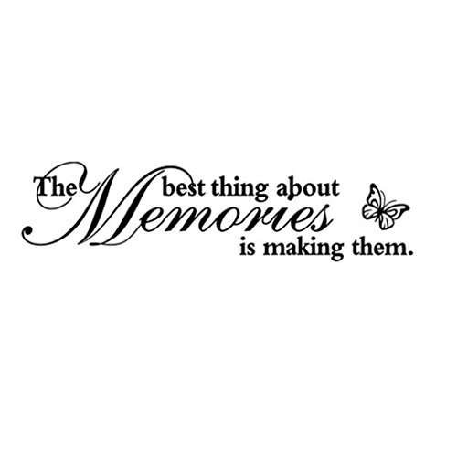 "Letters Wall Sticker, Fashion Home Decor Wall Art""The Best Thing About Memories is Making Them"" Removable Art Vinyl Mural Wall Stickers for Bedroom Living Room (Art Letters)"