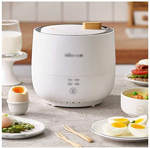 DKEE Hervidor de Huevos Cocedor de Huevos Máquina de Huevos de Aguas Termales Hogar Automático Multifuncional Pequeño vaporizador de Huevos Artefacto de Desayuno Vaporizador de Huevos (Color: Blanco)