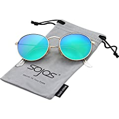 UV400 PROTECTION FOR YOUR EYES – SojoS's anti-reflective sunglasses with HD polarized lenses can filter out sunlight reflected glare, and protect your eyes from long term damage by blocking 100% of harmful UVA and UVB rays. ULTRA-LIGHT AND ULTRA-THIN...