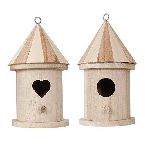 styleinside Mini DIY Holzvogelhäuser Vogelhaus zum Dekorieren von Kunsthandwerk für Kinder Erwachsene