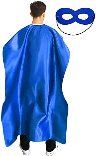 Adult Superhero Cape and Mask for Man and Woman Dress Up Superhero Costume for Party or Vacation product image