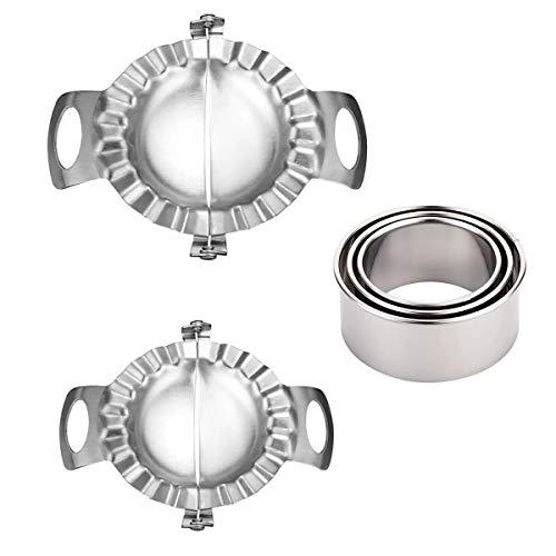ZYDTRIP Hochwertiger Knödelmacher, Edelstahl Ravioli Ausstechformen (5 STÜCKE Dumpling Maker)