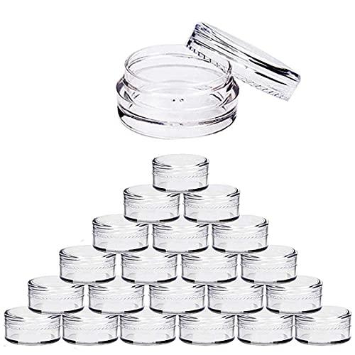 Botella de bomba de loción 5 unids / lote 2g 3g 5g 10g 15g 20 g de plástico vacío claro cosmético tarros de maquillaje contenedor bálsamo bálsamo loción botellas viales crema olla gel caja de gel El p