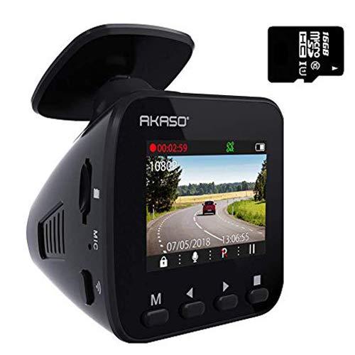 Dash Cam WiFi Car Camera - AKASO V1 Dash Camera for Cars 1296P with Phone APP GPS 16GB Memory Card...