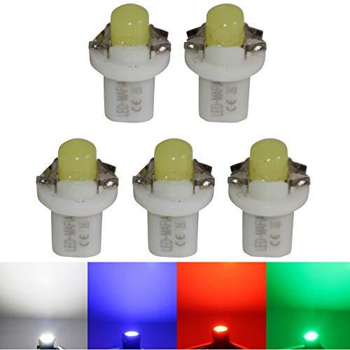 LED-Mafia Lot de 5 éclairages de comptoirs COB Blanc/bleu rouge cockpit