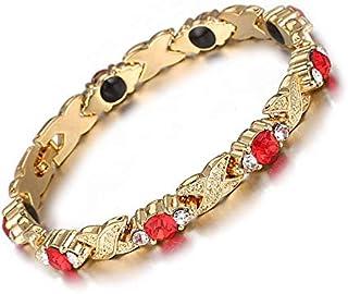 اساور سلاسل الطاقة مع كريستالات الجرمانيوم الحمراء للنساء، مجوهرات صحية كما انها هدية مميزة