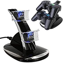 Dual Charger with USB LED Dock Station Charging Stand for Playstation 4 for PS4 Controller
