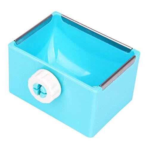 POPETPOP Coniglio Acqua Ciotola per Cibo Mangiatoia per Animali Mangiatoia per Coniglio Gabbia per Appendere Ciotole quadrate (Blu)