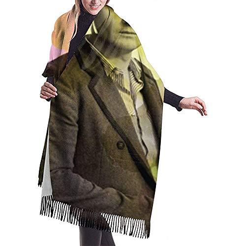 Elaine-Shop Bufanda con borlas -Keane- Bufanda de gran tamaño para mujer Bufanda larga Chal Envuelve bufandas grandes Regalos