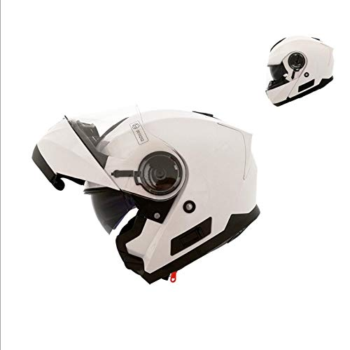 Shiro SH507 - Casco modular (talla XL), color blanco