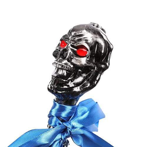 XDXDO Vestido de Lujo de Halloween Caminando bastón, cráneo gótico Cosplay Cosplay Bastones de Bastones Decorativos