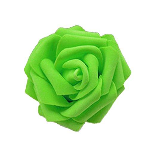 50Rosenblüten, aus Schaumstoff, Blütenkopf, künstliche Blume, Dekoration, zum Basteln, für Garten und Haus grün