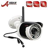 ANRAN 防犯カメラ ワイヤレス 屋外 1080P ワイヤレス防犯カメラ 暗視 動体検知 IP66 防水防塵 屋内/外対応(130万レコーダに追加できない)