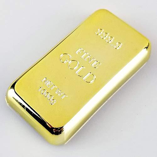 #N/V Abridor de botellas de oro personalizado, soporte magnético chapado en oro brillante, barra de ladrillo, pisapapeles decoración de escritorio