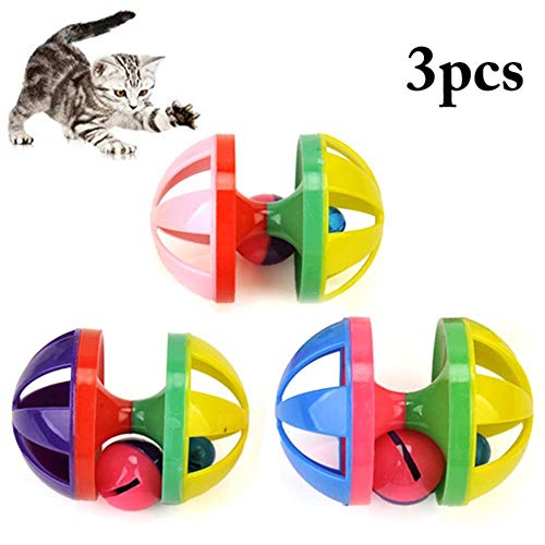 SVY dubbele bel bal kat bal speelgoed interactief huisdier speelgoed kat hond piepende speelgoed benodigdheden